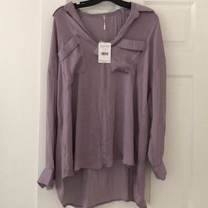 Free People Tunic Shirt in purple size Small